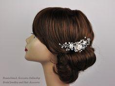 Brautschmuck haare blumen  Haarbrosche