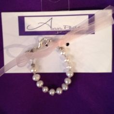 Freshwater Pearl Clasp Bracelet for Girls - pinned by pin4etsy.com