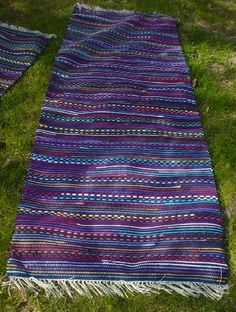 Loom Weaving, Hand Weaving, Picnic Blanket, Outdoor Blanket, Babe, Tear, Recycled Fabric, Woven Rug, Scandinavian Style