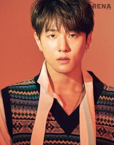 Donghyuk (iKON) - Arena Homme Plus Magazine February Issue Chanwoo Ikon, Kim Hanbin, Yg Ikon, Ikon Kpop, Bobby, Jyp Trainee, Ikon Member, Koo Jun Hoe, Ikon Debut