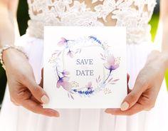 Hochzeitspapeterie mit Lavendel - purple Wedding! Save the Date Karte für die Vintage Hochzeit #wedding #hochzeit #lavendel #savethedate #papeterie #herzkarten #braut #love #paperlove
