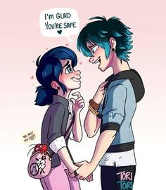 Lukanette - that would be awesome. You know, she like him.. But in the end they broke up because mari find out about her feelings to Chat. THIS IS WHY LUKA EXISTS!!! and of course adrien might be jealous. (Sorry for english) //kette