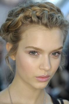 Hairstyles for Fine Hair | Beauty High...I like milkmaid braids without the center part!
