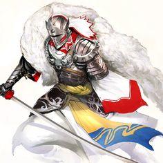 Dog days' Knight (Sesshomaru themed armor) #art #inuyasha