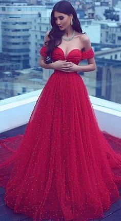 Charming A-Line Off-the-Shoulder Court Train Red Tulle Prom Dress Red Lace Prom Dress, Prom Dress A-Line, Prom Dresses, Lace Prom Dress, Red Prom Dress Prom Dresses 2020 Red Lace Prom Dress, Prom Dress With Train, Beaded Prom Dress, Dress Red, Dress Long, Tulle Dress, Wedding Dresses Uk, A Line Prom Dresses, Cheap Prom Dresses