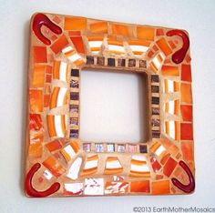 Mosaic Frame // Pique Assiette // Stained by earthmothermosaics, $40.00
