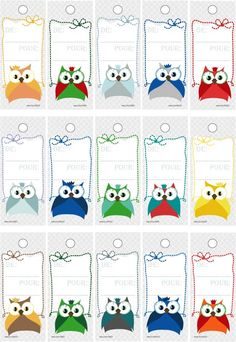 Etiquettes trop chouettes Owl Writing, Writing Paper, Owl Crafts, Diy And Crafts, Crafts For Kids, Homemade Gift Bags, Owl Classroom, Birthday Charts, Art Drawings For Kids