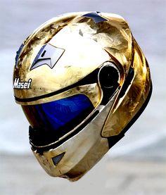 Masei 815 Gold IceChrome Modular Flip-Up Motorcycle Helmet - Custom Order - Free Shipping