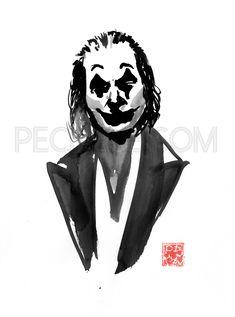 Joker Poster, Sumi E Painting, Movie Characters, Fictional Characters, Brush Pen, Portrait Art, Batman, Graphic Design, Superhero