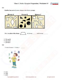 Worksheets For Class 1, 1st Grade Math Worksheets, Online Mock Test, Online Tests, Math Olympiad Questions, Class 1 Maths, Exam Calendar, Olympiad Exam, Self Registration