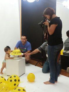 Making of smash the cake