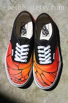 Vans Butterfly Sneakers - Monarch Butterfly Inspired + Custom Hand Painted
