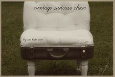 see kate sew: vintage suitcase chair