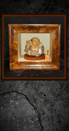 """Straight from our Havana Collection, a little Buddha framed in a custom 5"""" deep shadowbox. 🖼 ---------- #custom #framing #frames #frame #picture #art #artwork Picture Frame Store, Wendy Davis, Little Buddha, Havana, Shadow Box, Old Photos, Custom Framing, Framed Art, Original Art"""