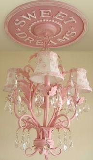 adorable pink bling chandelier for a babygirl