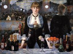 MANET, Edouard - A Bar at the Folies-Bergère, 1881-82