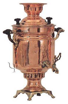 Turkish Copper Cylindrical Samovar