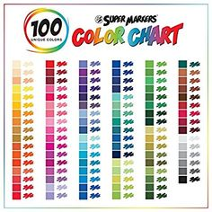 Super Markers 100 Unique Colors Fineliner and Brush Twin Tip Marker Set - .7mm Fineliner Tip & 4.55mm Brush Tip Markers with 100 Vibrant and Bold Colors - 100% Satisfaction Guarantee