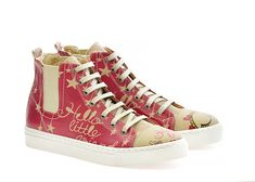 GOBY Women's Shoes ''Pink & Beige Fashion Sneaker Boot'' CON106 Pink Beige, Sneaker Boots, Girls In Love, Vegan Leather, Converse Chuck Taylor, Sneakers Fashion, Women's Shoes, High Top Sneakers, Canada