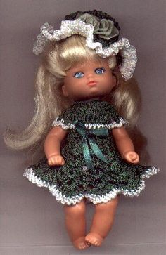 free crochet pattern - I love the little dress and hat.  So darling
