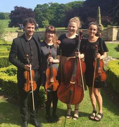 The Rosewood String Quartet, String quartet available for hire for weddings and…