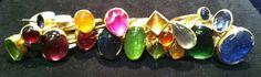 Gabrielle Kiss stacker rings like juicy opal fruits
