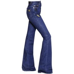 Sonia Rykiel Women High Waist Flared Denim Jeans W/ Patches (€820) ❤ liked on Polyvore featuring jeans, pants, bottoms, blue, denim, high waisted denim jeans, high waisted flare jeans, blue denim jeans, blue high waisted jeans and denim jeans