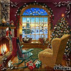 Mini Cosy Christmas Cat Chart Ruth Sanderson Heaven and Earth Designs Cosy Christmas, Christmas Scenes, Christmas Past, Christmas Pictures, Christmas Holidays, Christmas Room, Christmas Morning, Happy Holidays, Illustration Noel