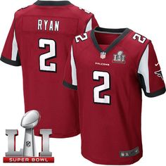 #NikeFalcons #2 #Matt #Ryan Red Team Color Super Bowl LI 51 Men's Stitched NFL Elite Jersey #InBrotherhood #JetJones #SB51 #RiseUp #AtlantaFalcons #SuperBowl #Luckyjerseys