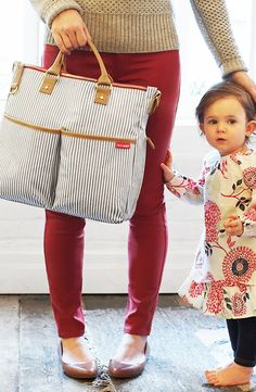 Skip Hop 'DUO' Diaper Bag. No baby, but I'd still carry it!