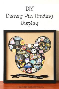 Create the perfect display for the Disney trading pins you've been collecting! // I love this! This is what I've been looking for!