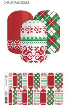 One of my favorite Jamberry wraps  Christmas Socks from the Holiday 2015 collection.