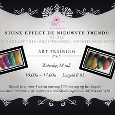 De nieuwste trend.. Stone effect art