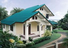 Double story beautiful house design and plan in Thai style utility area 151 square meters Thai Style, Square Meter, Open Floor, My House, Beautiful Homes, Home Improvement, Sweet Home, Shed, Floor Plans
