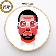 Kanye West embroidery, Kanye West cross stitch, diy, cross stitch pattern…