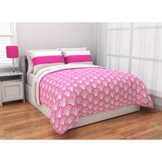 Latitude Rugby Stripe Reversible Complete Bedding Set, Pink: Teen Rooms : Walmart.com