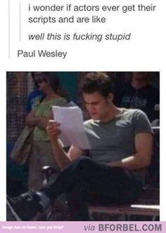 Paul Welsey Doubts His Script…
