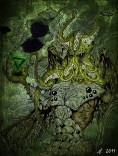 """It's well known that the great Cthulhu has a particular bond with artists of all sorts. Lovecraft's """"The Call of Cthulhu"""" it's docu. Lovecraft Cthulhu, Hp Lovecraft, Yog Sothoth, Lovecraftian Horror, Eldritch Horror, Call Of Cthulhu, Best Horrors, Love Craft, Fantasy"""