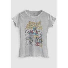 Camiseta Power Girls Batgirl BandUp! - Cinza