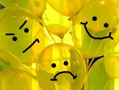 Yellow balloons + black marker = lego head balloons