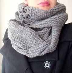 free knit cowl patterns women | PDF Knit and Crochet PATTERN Long Infinity Cowl by PATTERNSbyFAIMA