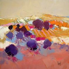 Hervé LENOUVEL Watercolor Landscape Paintings, Landscape Artwork, Oil Painting Abstract, Abstract Art, Giraffe Art, Abstract Expressionism, Canvas Art, Artist, Fields