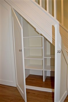 Understairs Storage Door Under Stairs . Understairs Storage Door Under Stairs . Pin On for the Home Under Basement Stairs, Cabinet Under Stairs, Shelves Under Stairs, Closet Under Stairs, Space Under Stairs, Stair Shelves, Diy Storage Shelves, Staircase Storage, Basement Storage