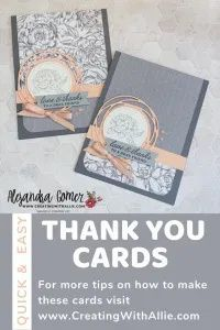 Make 12 Thank you cards with two sheets of patterned paper Thank You Cards, Stampin Up, Finding Yourself, Easy Cards, Joy, Invitations, Messages, Templates, Learning