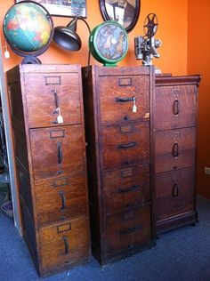 """One of my most prized possessions is an antique wooden filing cabinet that belonged to my great grandfather.Friends are always asking where I got it and how they can get one, too. I finally have an answer to the second question: Head to Broadway Antique Market."""