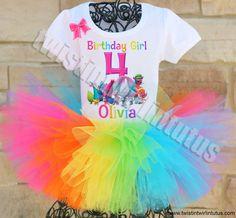 Trolls Birthday Party Ideas | Trolls Birthday Tutu Outfit | Trolls Birthday Shirt | Trolls Party Ideas | Birthday Party Ideas for Girls | Twistin Twirlin Tutus #birthdaypartyideas #trollsbirthday  http://www.twistintwirlintutus.com/products/trolls-birthday-outfit-3