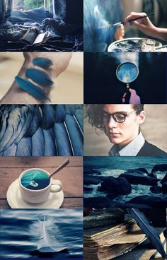 """catchingoceans:  ravenclaw aesthetic; angel """"or yet in wise old ravenclaw,if you've a ready mind,where those of wit and learning,will always find their kind."""" gryffindor 