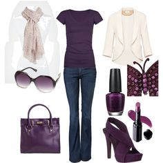 Pretty in Plum, created by adriana-boehm on Polyvore