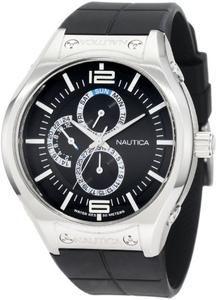 Nautica Men's N19558G NMC 200 Multifunction Black Steel Watch