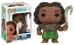 Disney's Moana: Maui with magical hook different pose Pop figure by Funko, BAM (Book A Million) exclusive